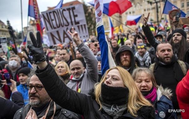 В Чехии протестовали против локдауна