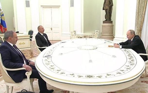 В РФ проходит встреча Путина, Алиева и Пашиняна