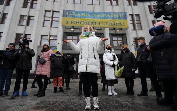 У Тернополі підприємці протестують проти карантину:  Дайте жити