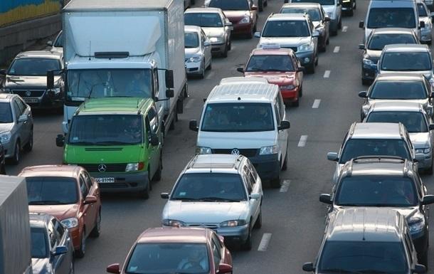 Транспортный поток в Киеве увеличился почти на 5% за год