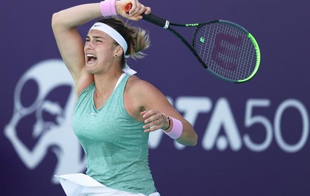 Соболенко выиграла турнир в Абу-Даби