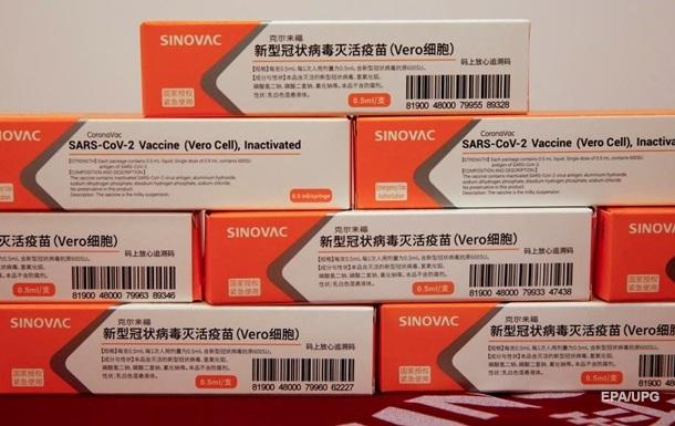 МОЗ: Ефективність вакцини Sinovac поки не названа