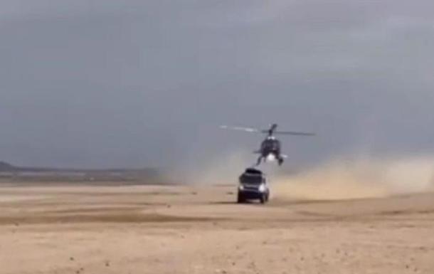 На ралі Дакар вертоліт зіткнувся з КамАЗ