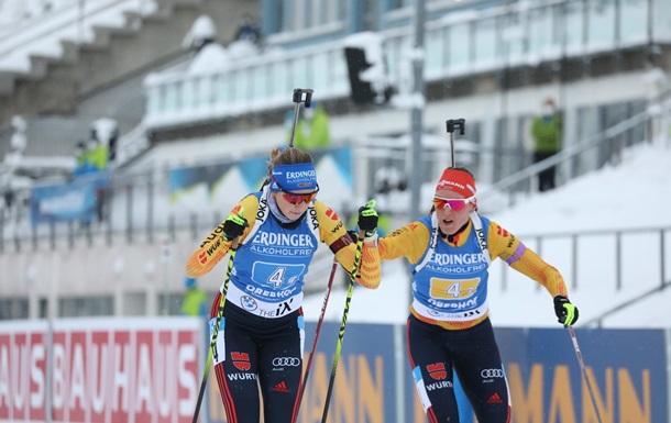 Германия выиграла женскую эстафету в Оберхофе, у Украины худший результат в сезоне