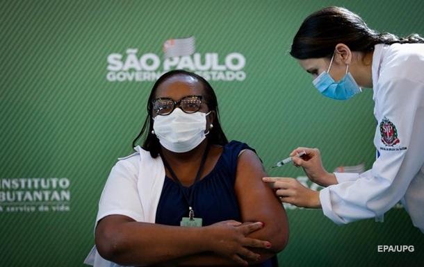 Бразилия разрешила экстренное использование вакцин Sinovac и AstraZeneca