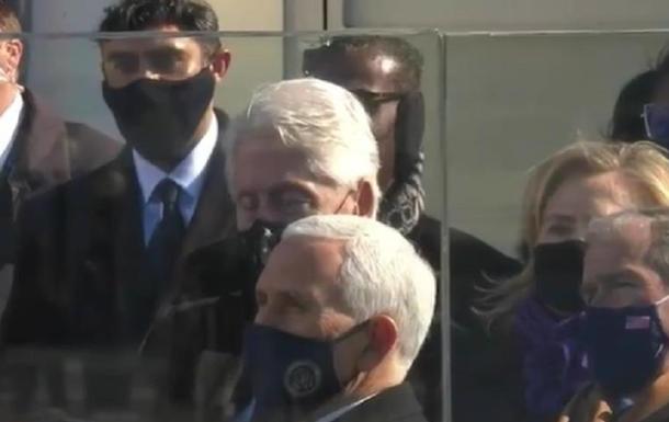 Клинтон задремал во время речи Байдена