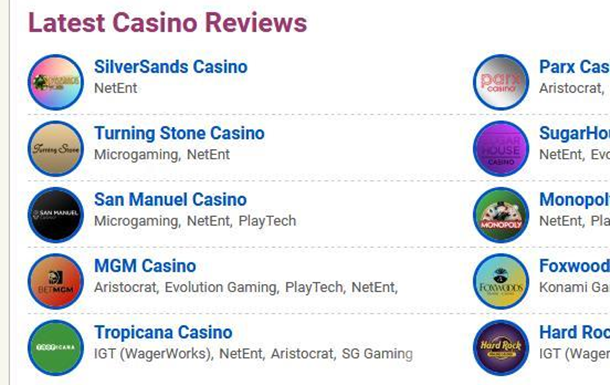 The criteria by which the casino rating is compiled