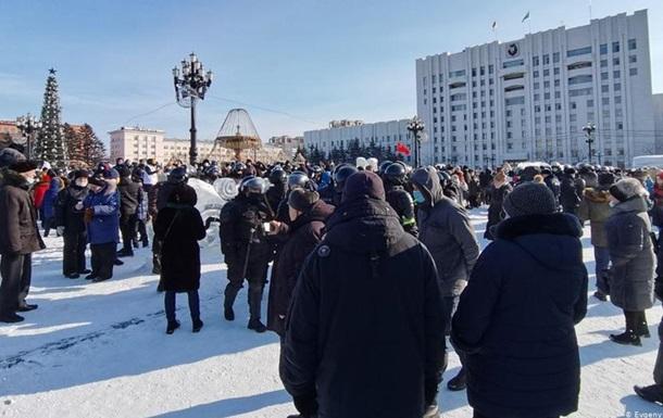 У Росії почалися мітинги на підтримку Навального