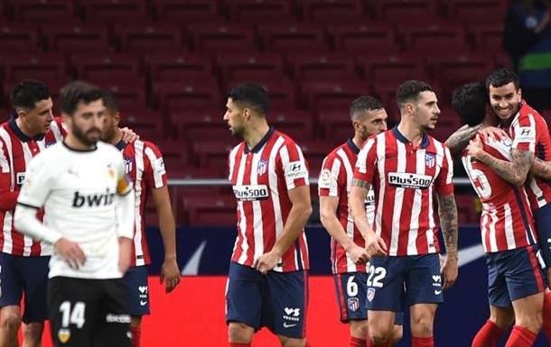 Атлетико обыграл Валенсию и закрепился на первом месте в Ла Лиге