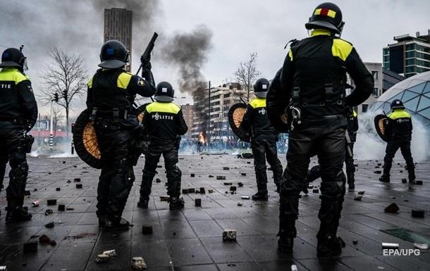 'Антикарантинные' беспорядки в Нидерландах: задержаны около 300 человек