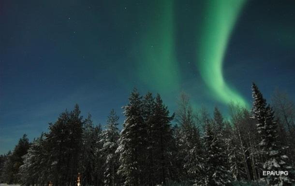 В Лапландии наблюдали яркое северное сияние