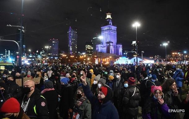 В Польше протесты после вступления в силу запрета абортов