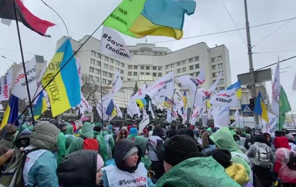 Протестующие ФОПы собрались возле КСУ
