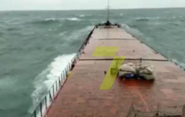 З явилося відео аварії судна біля берегів Туреччини