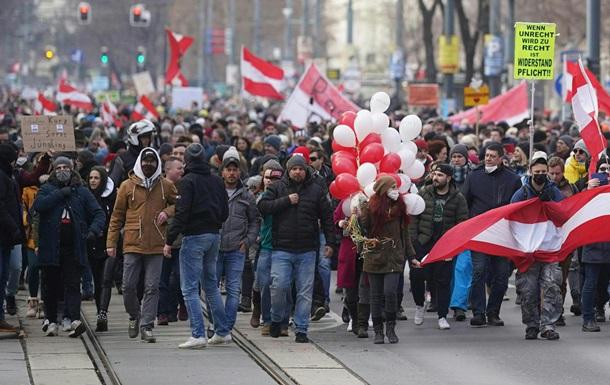 В столице Австрии прошли массовые акции протеста против локдауна