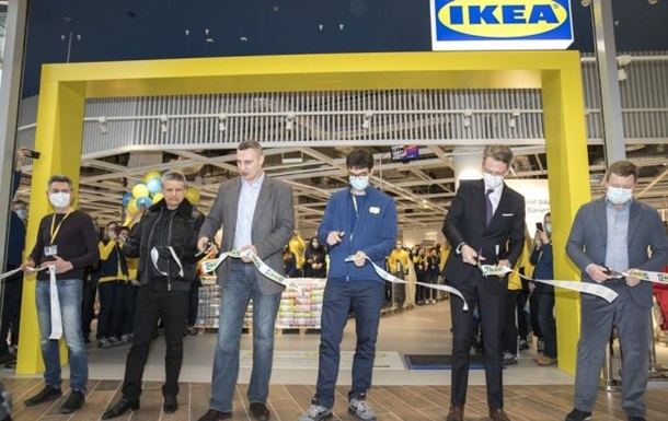 Кличко принял участие в открытии первого в Украине магазина IKEA