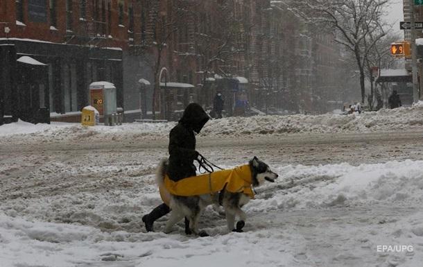 Нью-Йорк засыпало снегом. Фоторепортаж