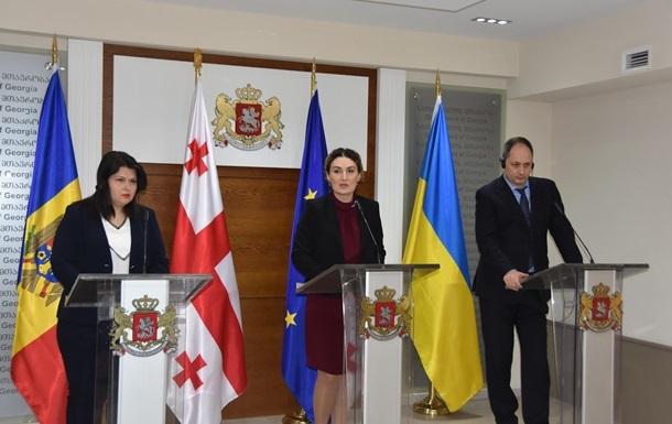 Украина, Грузия и Молдова призывают ЕС углубить интеграцию