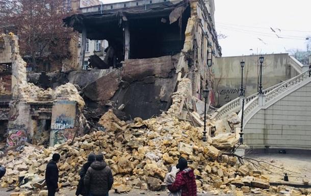 В Одессе обрушилась стена дома