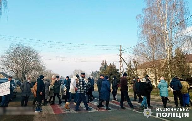 На Буковине протестующие против высоких цен на газ перекрыли трассу