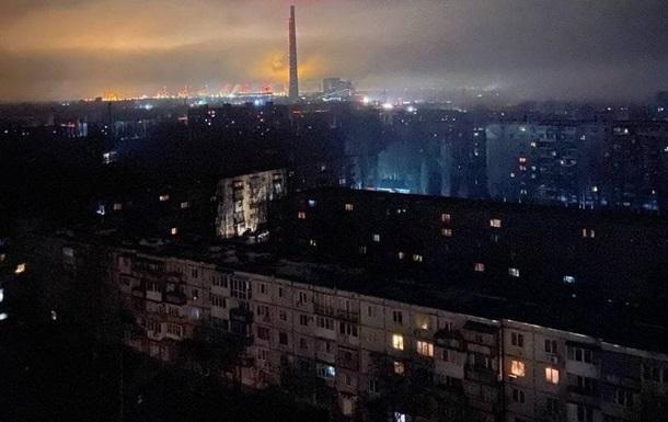 В Енергодарі аварія на ТЕС, місто знеструмлене