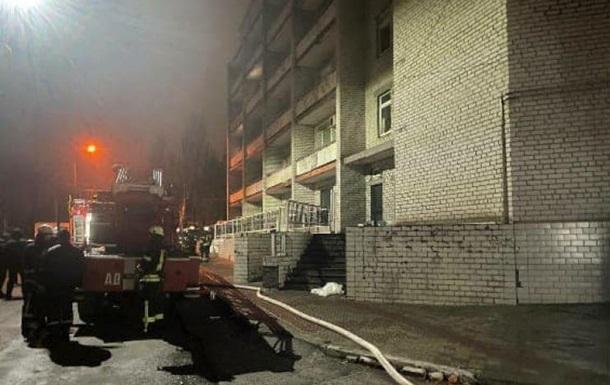 По пожару в больнице объявлено первое подозрение