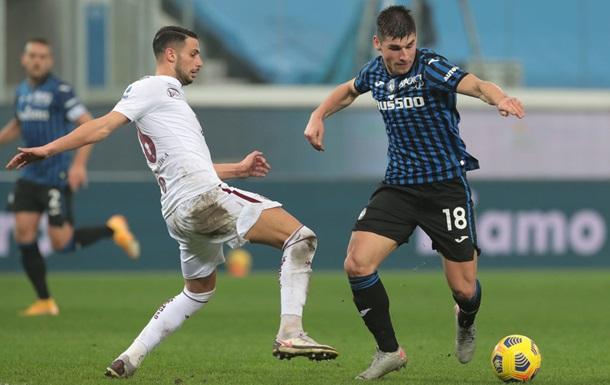 Аталанта з Малиновським вигравала 3:0, але не змогла перемогти Торіно