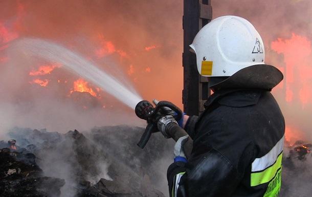 Пожар на ферме в Луганской области тушили пять часов