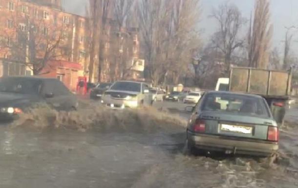 В Одессе после снегопада произошло наводнение