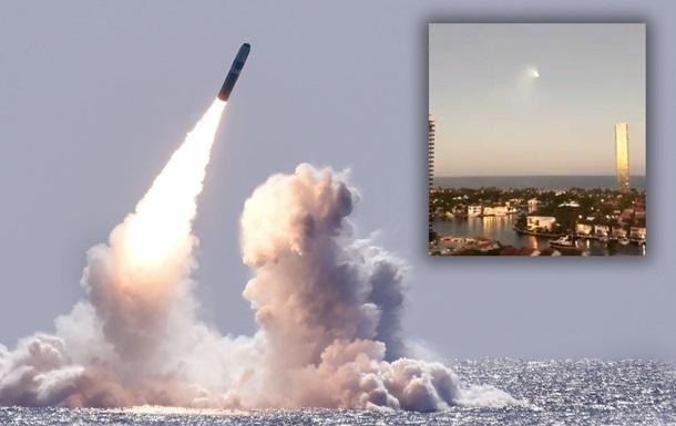 Ракета Trident пролетіла над Флоридою
