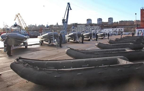 Украинские моряки получили лодки и катера из США