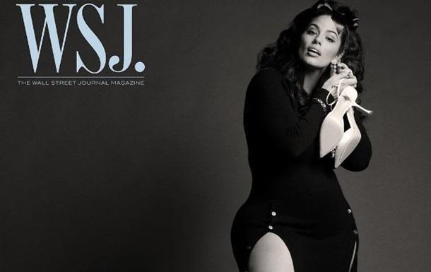 Модель plus size снялась для обложки глянца WSJ