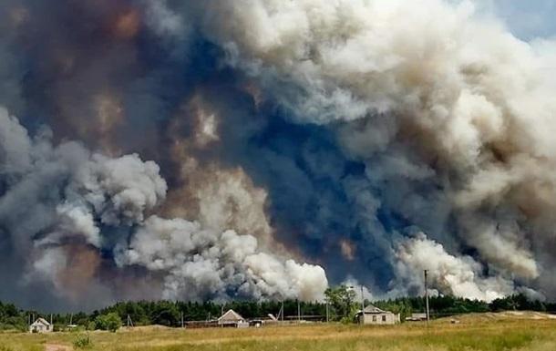 Пожары на Луганщине: объявлены еще шесть подозрений
