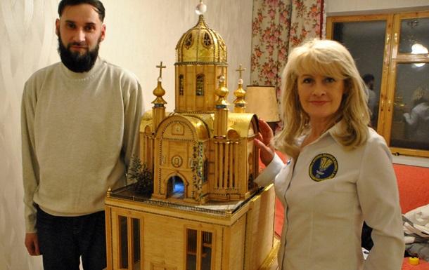 Харків янин 22 роки майстрував унікальний макет храму заввишки більше метра