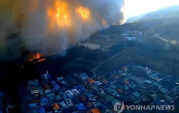 В Южной Корее вспыхнул масштабный лесной пожар