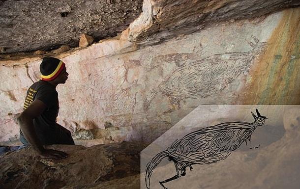 В Австралии обнаружили наскальный рисунок, которому 17,5 тысяч лет