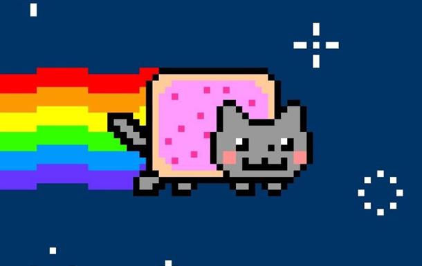 Гіфка-мем з піксельним котом пішла з молотка за півмільйона доларів