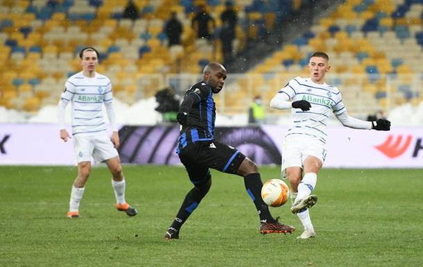 Брюгге - Динамо 0:1. Онлайн матча Лиги Европы