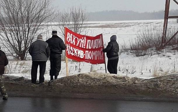 Тарифний протест: у Лубнах перекрили трасу