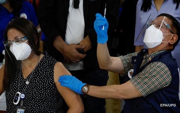На Філіппінах стартувала COVID-вакцинація препаратом Sinovac
