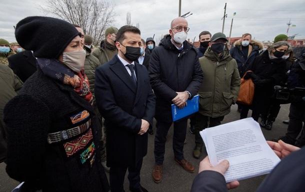 В ОП розповіли, чим Зеленський і Мішель займалися на Донбасі