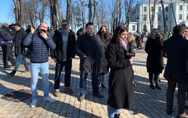 В Киеве проходят три протестные акции