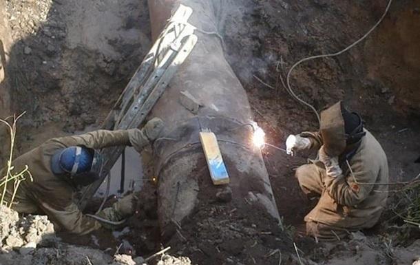 На Донбасі велика аварія на водопроводі