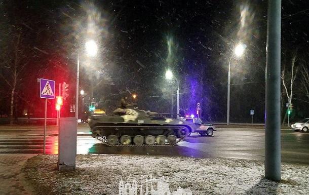 Вулицями Гродна рухалася військова бронетехніка