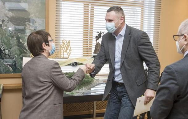 Кличко обсудил с главой ЕБРР новые проекты в Киеве