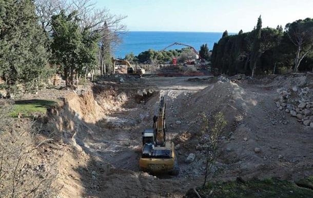 Прокуратура відкрила провадження через руйнування парку у Форосі