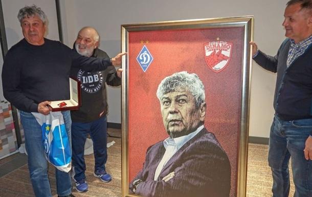 Ультрас румынского Динамо подарили Луческу его портрет на фоне имен 15 тысяч фанатов