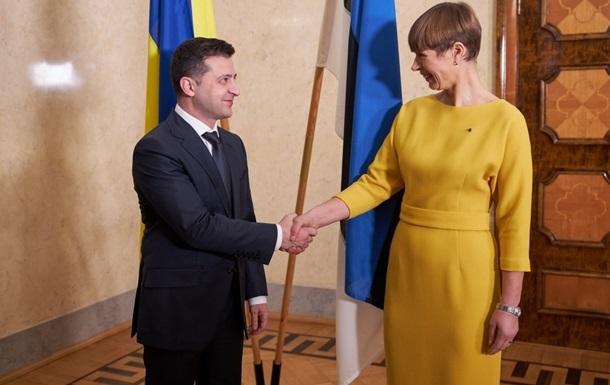 Зеленский обсудил с президентом Эстонии евроинтеграцию Украины