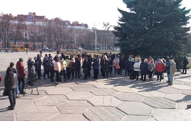 В Полтаве протестуют против усиления карантина