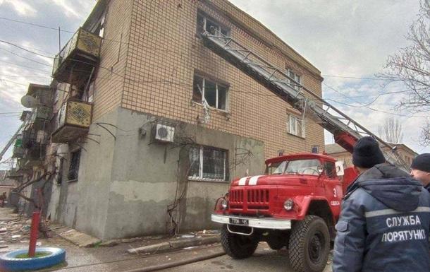 В Одессе произошел взрыв и пожар в жилом доме